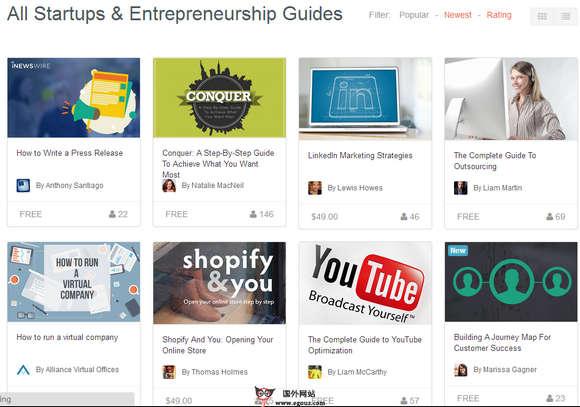 【经典网站】Guides.co:在线企业品牌内容宣传托管平台