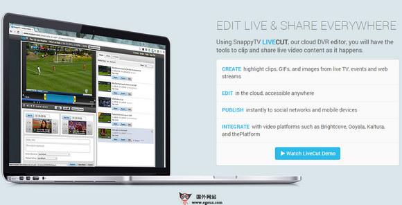 【经典网站】SnappyTV:在线短视频编辑平台