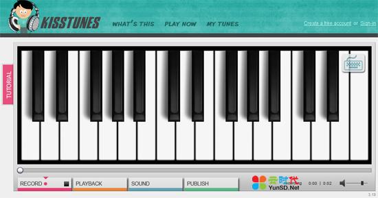 【数据测试】kisstunes:免费在线弹奏钢琴
