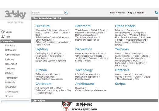 【素材网站】3DDD:在线3D素材模型资源分享网