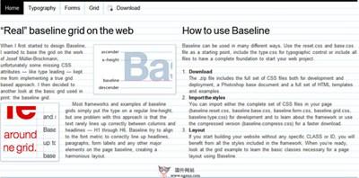 【工具类】BaseLinecss:网页设计排版工具