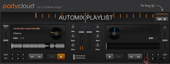 【经典网站】PartyCloud.FM:在线DJ混音工具云平台