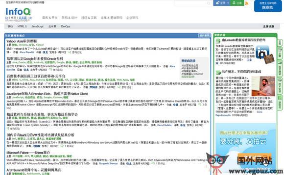【经典网站】InfoQ:世界软件开发门户社区