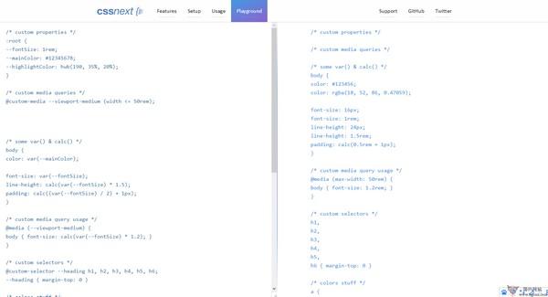 【工具类】CssNext:在线CSS语法转换工具