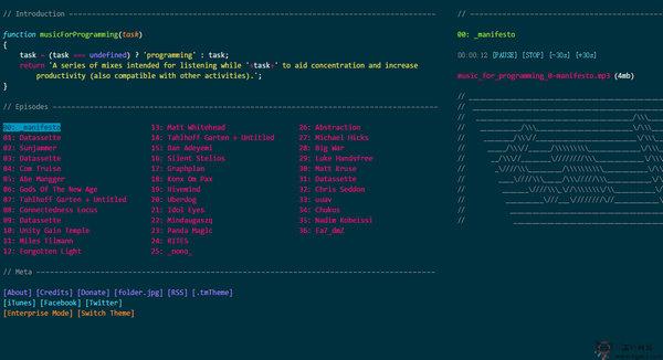 【经典网站】Programming:程序员专注工作音乐网