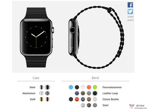 【经典网站】在线AppleWatch手表样式搭配网