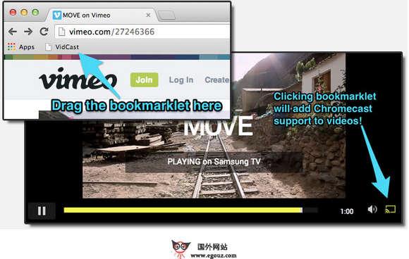 【工具类】VidCast:网页视频投影辅助工具