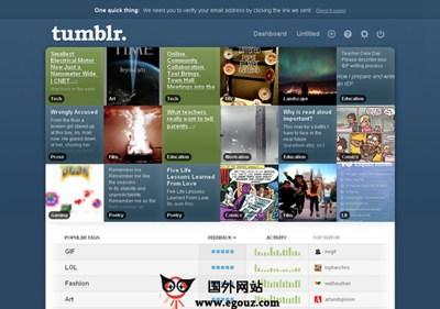 【经典网站】Tumblr:汤不热微博客社交平台