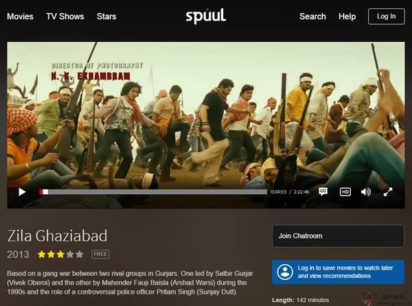 【经典网站】Spuul:免费印度宝莱电影网