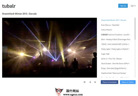 【经典网站】Tubalr:Youtube音乐关键词搜索试听网