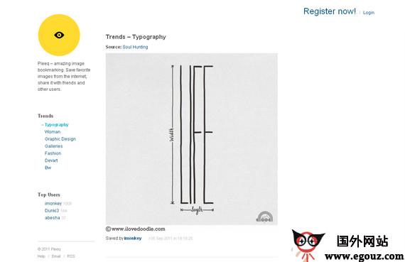 【经典网站】PleeQ:社交图像书签服务网