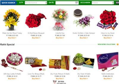 【经典网站】FNP:印度鲜花礼品购物平台