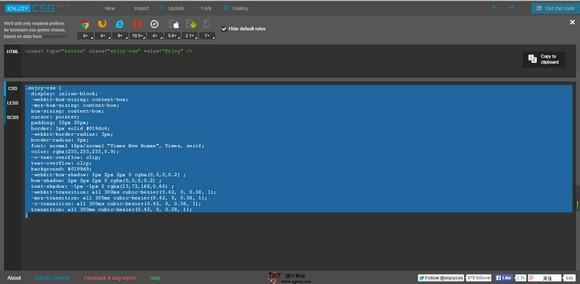 【工具类】EnjoyCSS:在线CSS代码可视化工具