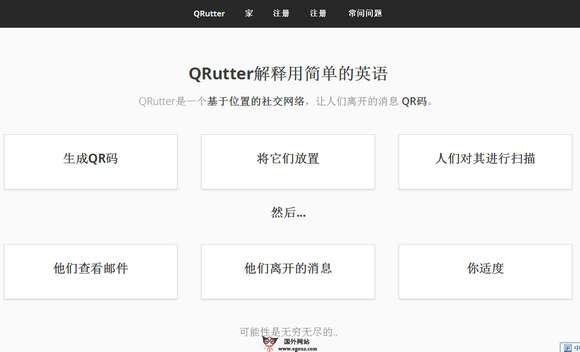 【经典网站】Qrutter:基于QR社会化社交平台