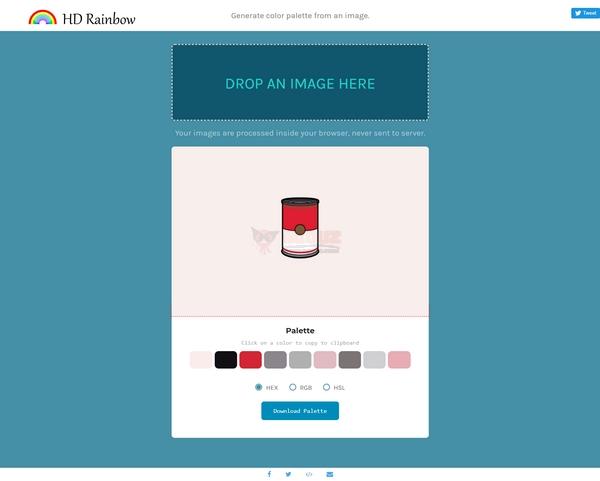 【工具类】Hdrainbow|在线图片颜色识别器