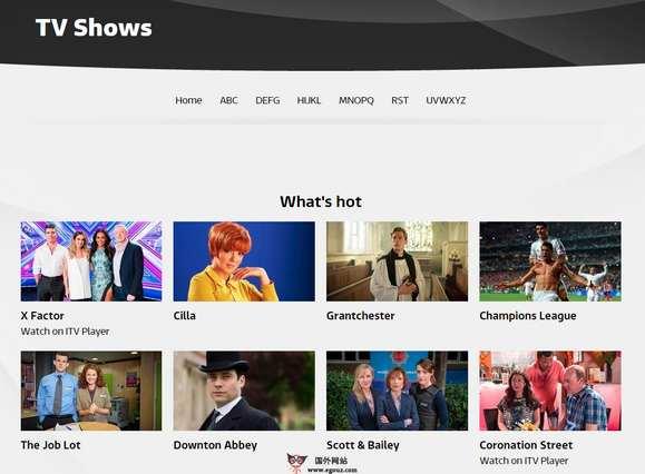 【经典网站】英国ITV独立电视台官网