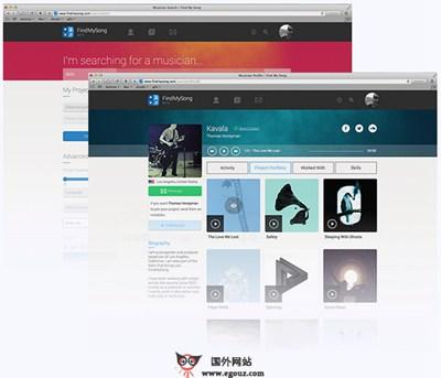 【经典网站】FindMySong:在线音乐云合作平台