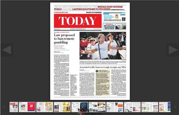 【经典网站】ToadyOnline:新加坡今日报新闻网