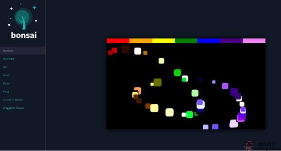 【经典网站】Bonsaijs:轻量级JavaScript绘图库