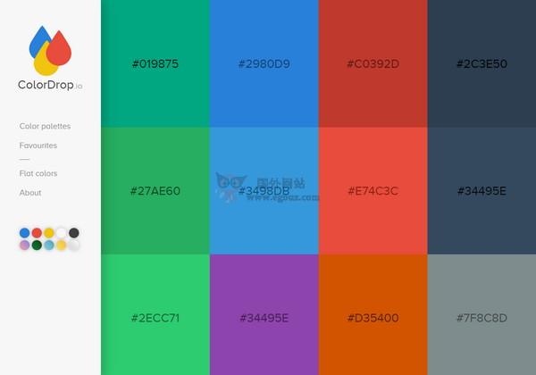 【素材网站】ColorDrop:在线颜色组合调试工具