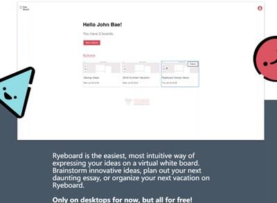【工具类】Ryeboard|在线手绘式白板工具