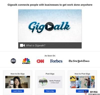 【经典网站】GigWalk:移动版线下付费任务众包平台