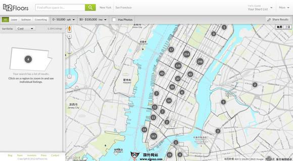 【经典网站】42Floors:办公室租赁搜索引擎