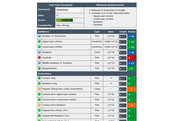 【数据测试】passwordmeter,免费在线检测密码强度[云应用]