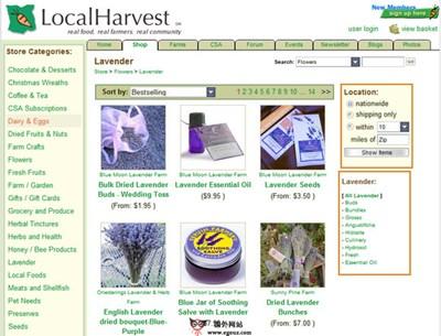 【经典网站】LocalHarvest:美国在线农产品搜索平台