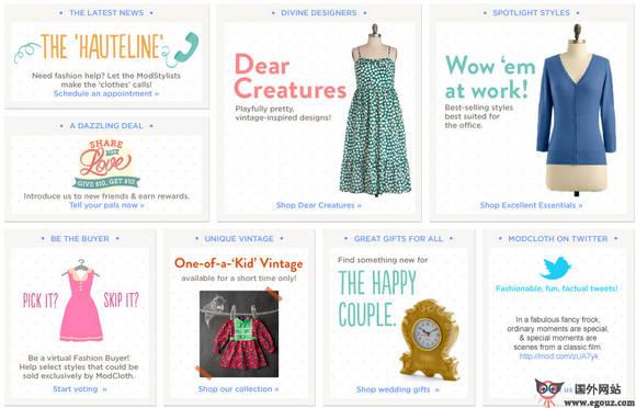 【经典网站】ModCloth:女性复古风服装商城