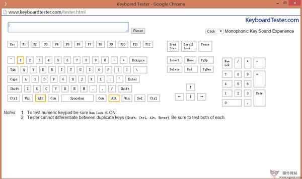 【工具类】KeyboardTester:在线键盘性能测试网