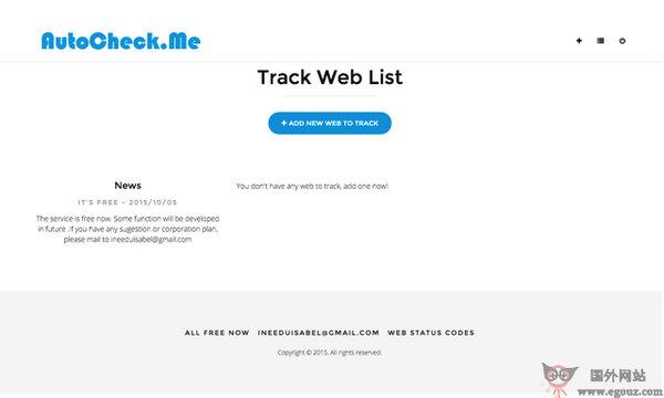 【经典网站】AutoCheck:免费网站实时监测平台
