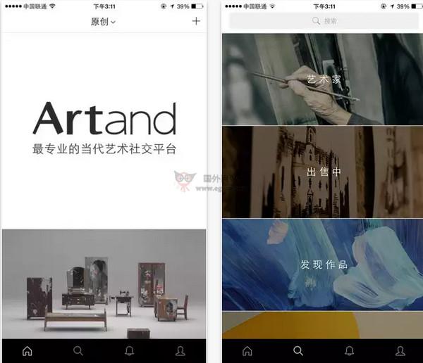 【经典网站】Artand:当代艺术社交平台