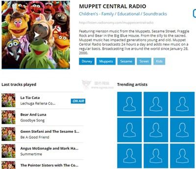 【经典网站】Muppet Central Radio 布偶音乐网络电台