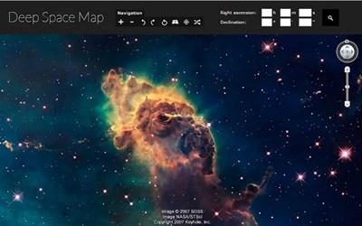 【经典网站】DeepspaceMap:在线太空地图模拟平台