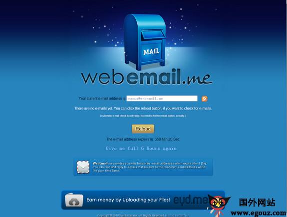 【经典网站】Webemail.me:临时邮箱服务网