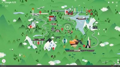 【经典网站】谷歌微缩景观世界地图