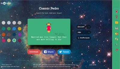 【素材网站】CosmicPedro:免费图标搜索编辑网