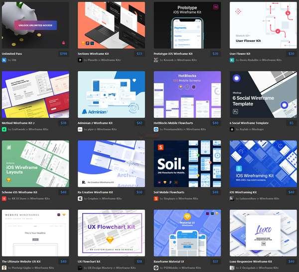 【素材网站】UI8|优秀界面设计作品交易平台