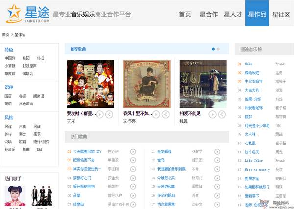【经典网站】iXingTu:星途音乐人交流平台