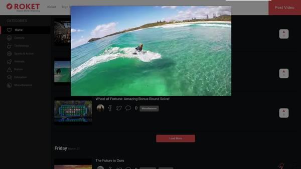 【经典网站】RoketTV:新奇视频分享社区
