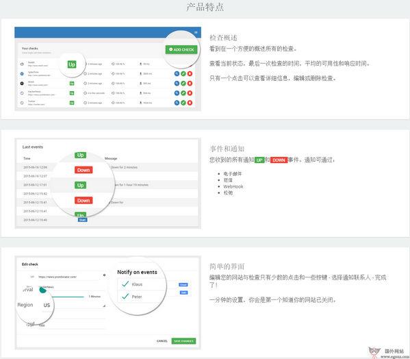 【工具类】UptimeButler:免费网站监控提醒工具