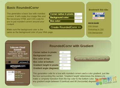 【数据测试】在线生成CSS圆角样式:Roundedcornr