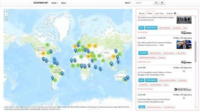 【数据测试】ScoopMap:基于地图的世界新闻实时在线分享网站