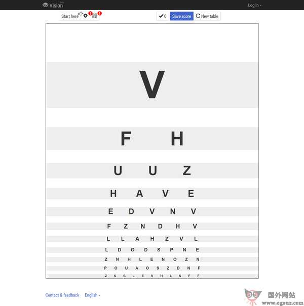 【工具类】Vision:在线视力检测工具
