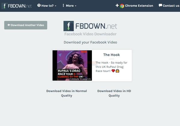 【工具类】Fbdown|在线Facebook视频下载工具