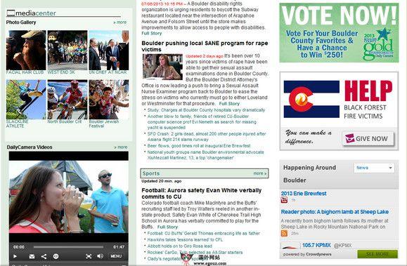 【经典网站】DailyCamera:美国博尔德本地新闻网