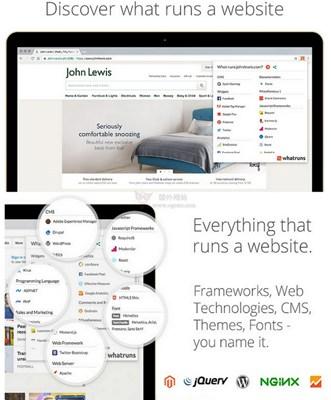 【工具类】WhatRuns 网站技术与服务嗅探工具