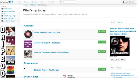 【经典网站】InternetDJ:在线DJ音乐分享网