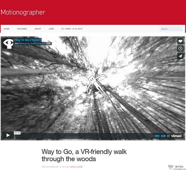 【经典网站】Motionographer:灵感动画设计作品网